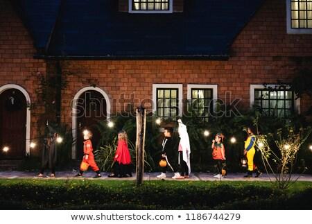Halloween uczta ilustracja czarny plakat Zdjęcia stock © brux