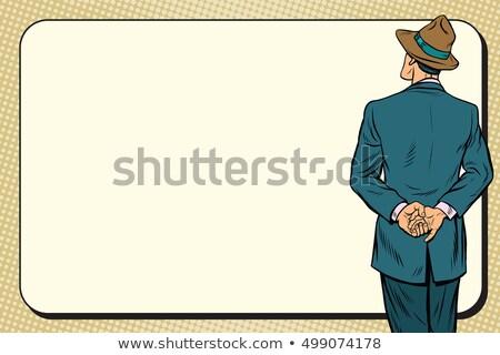 Retro man back near the billboard Stock photo © studiostoks