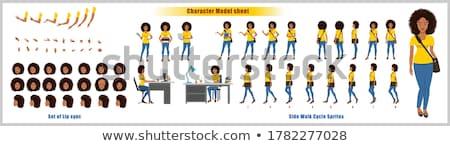 Africano americano grande conjunto 50 negócio Foto stock © Voysla