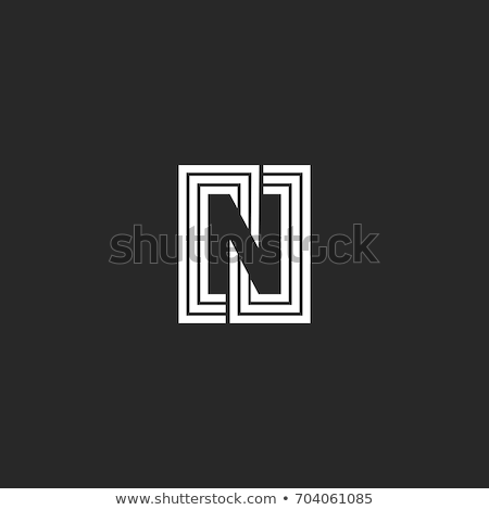 n letter business card dark Stock photo © VadimSoloviev