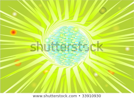 sparkling green discoball eps 8 stock photo © beholdereye