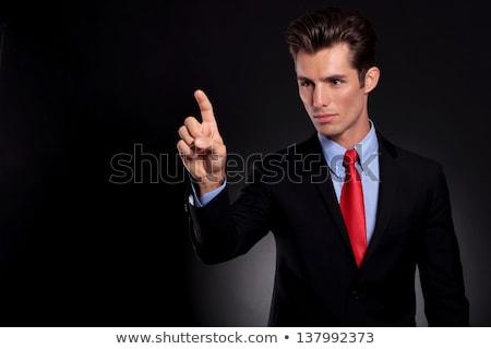 Ritratto giovani uomo d'affari suit lato Foto d'archivio © feedough