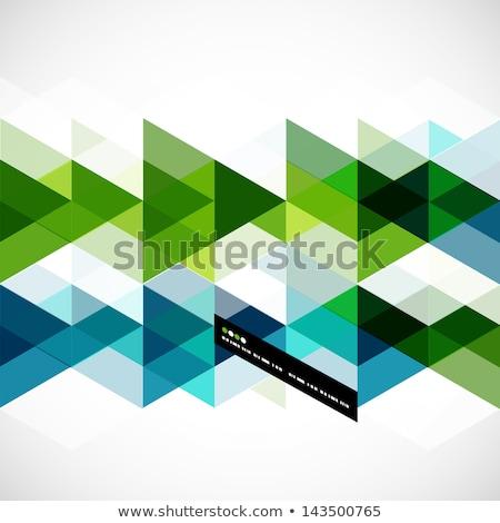 Briefkopf Design abstrakten blau Dreieck Formen Stock foto © SArts