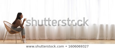Szeroki pusty biały kubek czyste Zdjęcia stock © Digifoodstock