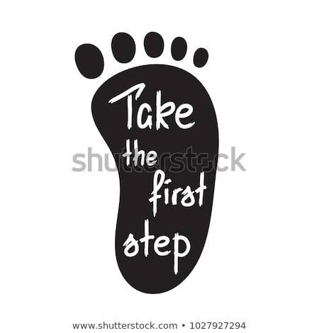 Take The First Step Footprint Concept Stock photo © ivelin