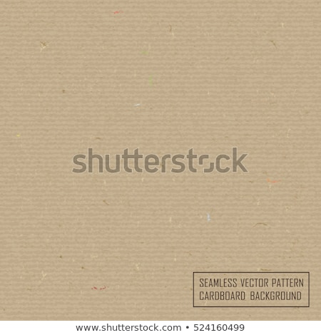 Textured recycled cardboard with fiber parts seamless texture. Realistic cardboard background. Craft Stock photo © Iaroslava