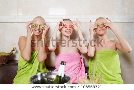 Kızlar parti spa merkez dinlenmek iletişim Stok fotoğraf © Yatsenko