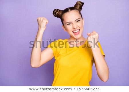 teen beauty hairstyle fashion teenage girl model happy smilin stock photo © victoria_andreas