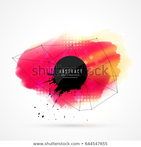 red watercolor stain with network wire mesh Stock photo © SArts