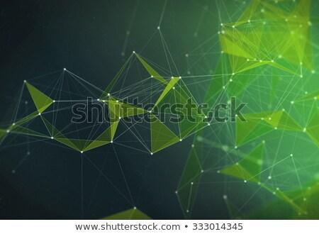 Abstrakten grünen Chaos Zeilen schwarz Langzeitbelichtung Stock foto © Mikko