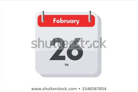 26 · ilustración · elegante · calendario · blanco - foto stock © oakozhan