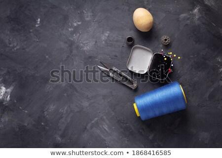 Naaien schets weefsel illustratie ontwerp kleding Stockfoto © lenm