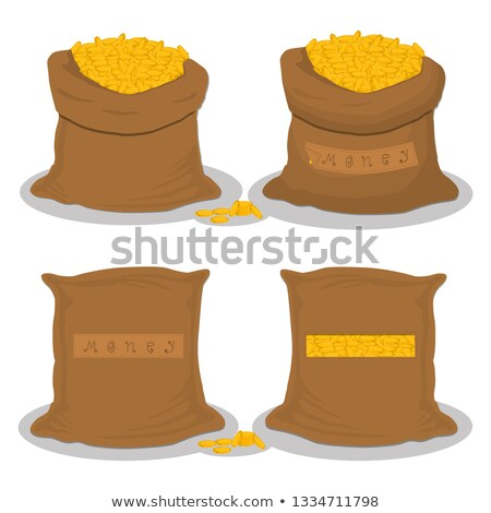 Bag of gold. Many gold coins. Open sack full of treasures. Golde Stock photo © popaukropa