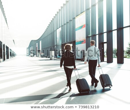 Business person rolling luggage Stock photo © IS2