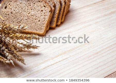Francia kenyér izolált fából készült palánk fa Stock fotó © FreeProd