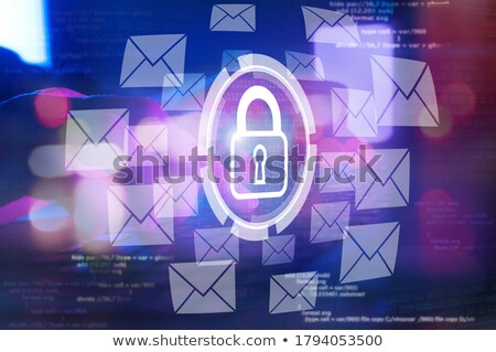 Messaging knop icon schild moderne Stockfoto © WaD