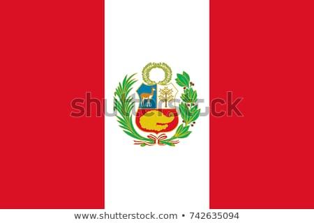 Peru bayrak ülke standart afiş arka plan Stok fotoğraf © romvo