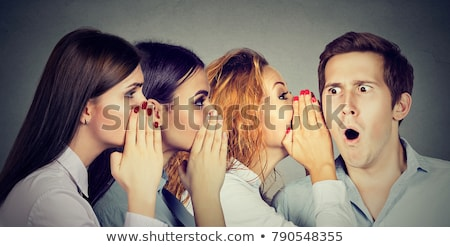 woman whispering private information a secret  Stock photo © ichiosea