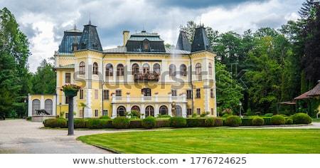 Castelo Eslováquia ensolarado verão dia céu Foto stock © grafvision