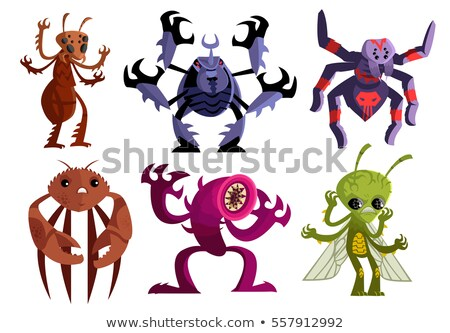 Evil Cartoon Alien Stock photo © cthoman