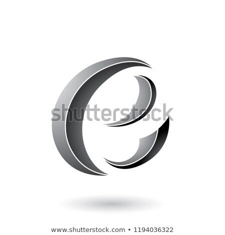Grigio mezzaluna vettore illustrazione Foto d'archivio © cidepix