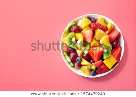 Bowl of fruit mix and berries Stock photo © dash