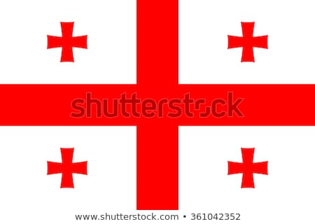 Georgia bandera blanco fondo viaje rojo Foto stock © butenkow