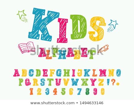 desenho · animado · alfabeto · cartas · crianças · ilustração - foto stock © izakowski