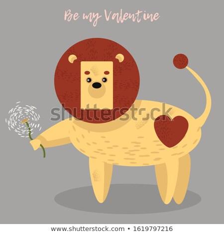 Cartoon tarassaco leone amore illustrazione baby Foto d'archivio © cthoman