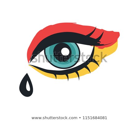Eye with Makeup Rock Theme Vector Illustration Stock photo © robuart