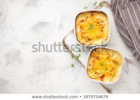 finom · gomba · egyezség · champignon · fából · készült · szalvéta - stock fotó © artsvitlyna