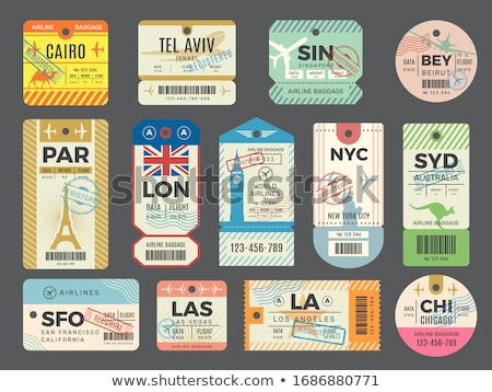 Stockfoto: Travel And Vacation - Vector Isolated Stickers Set