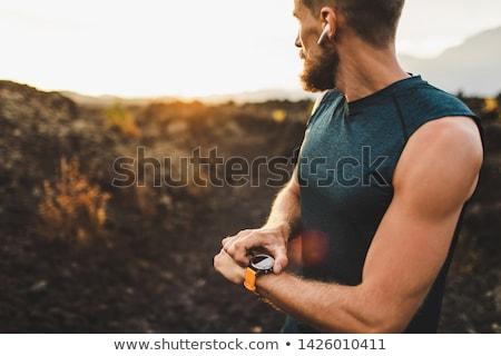 Hand smartwatch concept Stock photo © ra2studio