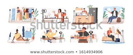 on-line · educação · webinar · teia · vetor - foto stock © rastudio