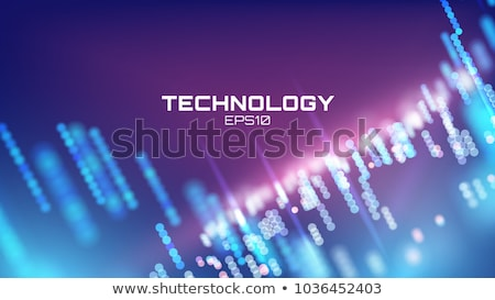 Stock photo: digital technology background with glowing lines mesh
