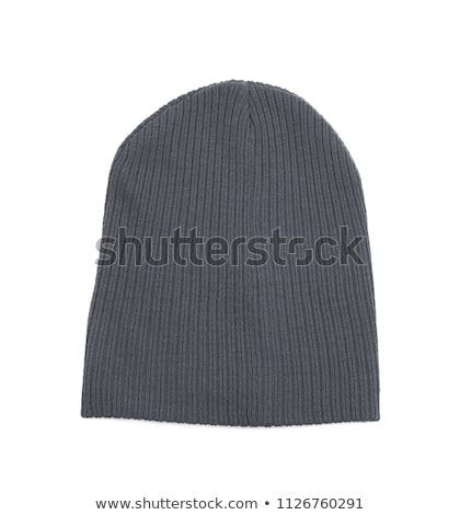grey knitted wool beanie hat Stock photo © marylooo