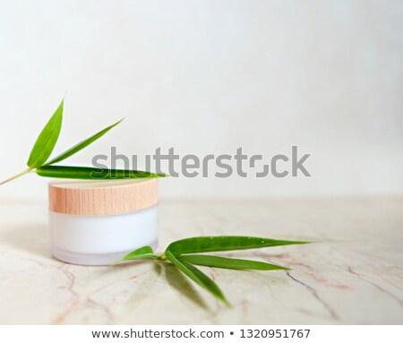 bambu · folhas · branco · árvore · primavera · grama - foto stock © dashapetrenko