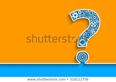 Mechanical Question Mark Illustration Stock photo © lenm