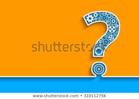 mechanical question mark illustration stock photo © lenm