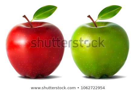 Vert rouge pommes pomme restaurant manger Photo stock © ConceptCafe