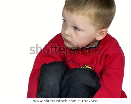 blonde guy holding his arm on knee Stock photo © feedough