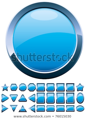 glossy round buttons or glass balls set Stock photo © SArts