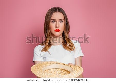 Rózsaszín ruházat szett lány irányítás választék Stock fotó © toyotoyo