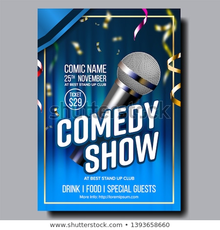 Stylish Poster Of Stand Up Show In Club Vector Stock photo © pikepicture