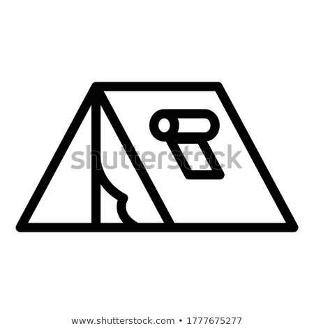 Male Person in Tent Vector Isolated Man in Shelter Stock photo © robuart