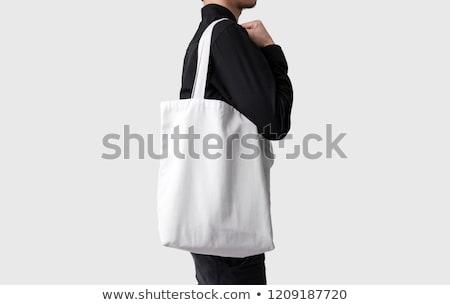 Lege beker zwart wit gestreept koffie ontwerp Stockfoto © dariazu
