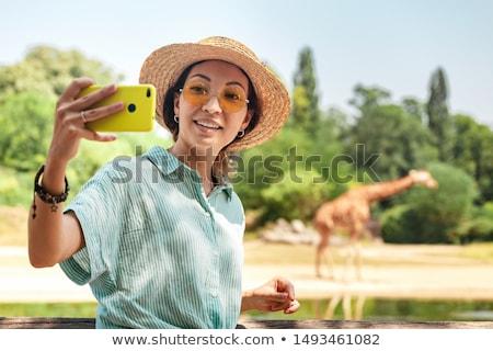 Mutlu kadın safari güzel kadın Stok fotoğraf © Anna_Om