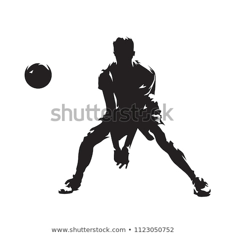 バレーボール プレーヤー ボール アイコン レトロスタイル 実例 ストックフォト © patrimonio