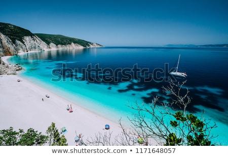 Jaskini raj niebieski morza niebo Zdjęcia stock © galitskaya