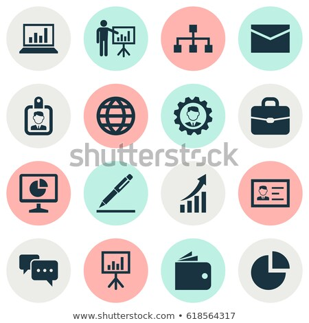 personal identity and leadership icon set Stock photo © bspsupanut